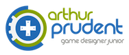 Logo Arthur Prudent Game Designer Junior